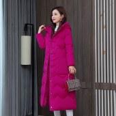 海谜璃冬季新款羽绒棉服女加长款韩版显瘦加厚刺绣棉衣外套 HBF2624
