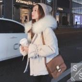 海谜璃羽绒服女短款棉衣外套加厚面包服HBF2634