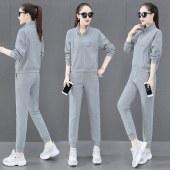 海谜璃卫衣套装修身显瘦潮流纯色休闲洋气女士运动两件套HBF2644