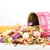 美粥食客酸奶坚果烘焙燕麦片罐装500g可干吃代餐即食果粒草莓烘焙水果