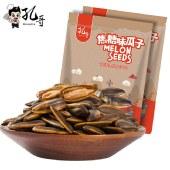 孔哥焦糖瓜子108g办公室休闲小零食香脆焦糖葵花籽干果炒货【新品上市】