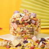 美粥食客酸奶坚果燕麦脆片袋装400g可干吃代餐即食果粒草莓烘焙水果