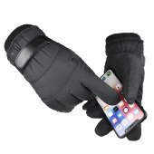 海谜璃 保暖手套冬季触屏加绒加厚防滑户外骑车男女滑雪运动棉防水手套HBF2690