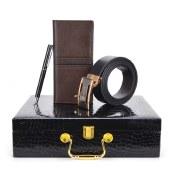 啄木鸟PLOVER高端钱夹+皮带+圆珠笔套装GD81209-3GB