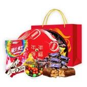 【年货大礼包】德芙春节礼盒-年年得福732g 巧克力M豆士力架彩虹糖果组合