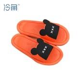 冷角新款时尚女夏小黑熊软底浴室防滑韩版一字家居凉拖鞋鞋子居家鞋