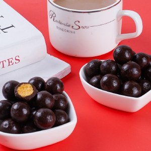 甘滋罗纯可可脂牛奶巧克力麦丽素夹心球125g/盒 12170101002
