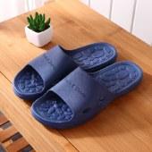 冷角石纹凉拖鞋外穿男士夏季室内家居浴室洗澡用防滑塑料软底女士40-45码居家托鞋鞋子家居鞋