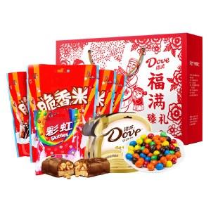【年货大礼】德芙春节糖果大礼包组合礼盒-德芙福满臻礼1049g