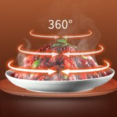 美菱微波炉快捷家用转盘加热智能菜单一键解冻20L大容量加热炉MO-TLC2001