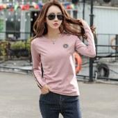 海谜璃春装新款女士T恤长袖修身韩版t恤HBF1221