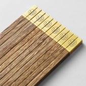 铸派家用木筷10双实木筷子日式防滑耐高温筷子木质餐具红檀木快子