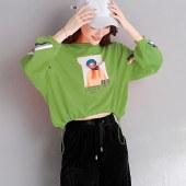 海谜璃卫衣女印花韩版新款宽松长袖上衣HBF1452