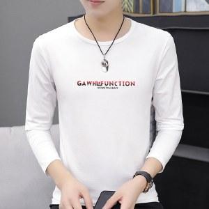 海谜璃男士韩版时尚休闲打底衣男装体恤衫印花长袖T恤HBF2006