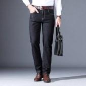 海谜璃商务牛仔裤宽松弹力牛仔裤商务休闲牛仔裤HBF7026