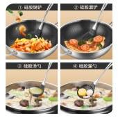 铸派硅胶锅铲硅胶铲子不粘锅专用汤勺炒菜铲子炒勺耐高温厨具套装