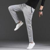 海谜璃新款休闲裤男式九分裤韩版修身直脚裤秋款直筒纯色裤子HBF2035