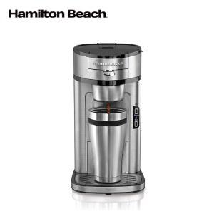 汉美驰精英式咖啡机美式滴漏式家用小型全自动免滤纸咖啡机49981-CN