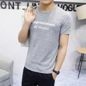 海谜璃短袖t恤男士半袖夏装男体恤韩版潮流圆领男式t恤HBF2179