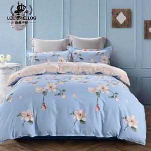 路易卡罗典雅纯棉四件套家纺被套家纺枕套家纺床单被单床上用品 忽而今夏 LK-6234