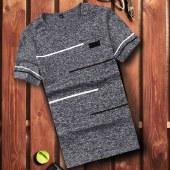 海谜璃新款男士短袖t恤韩版修身圆领潮流打底衫时尚男式体恤衫HBF2177