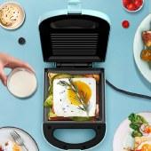 美菱三明治机烹饪机家用早餐机电饼铛华夫饼机烙饼锅MAJ-LC6502