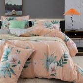 路易卡罗典雅纯棉四件套家纺被套家纺枕套家纺床单被单床上用品 梦江南 LK-6234