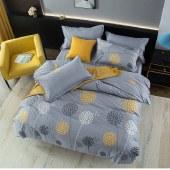 路易卡罗纯棉磨毛四件套家纺被套家纺枕套家纺床单被单床上用品 蒲公英之恋 LK-6323
