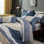 路易卡罗纯棉磨毛四件套家纺被套家纺枕套家纺床单被单床上用品 尚格 LK-6323