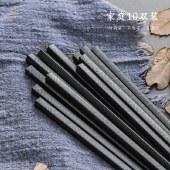 铸派合金筷子家用日式筷子防滑尖头不锈合金筷套装10双家庭装