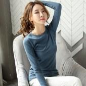 海谜璃新款女装长袖打底衫女士T恤HBF1304