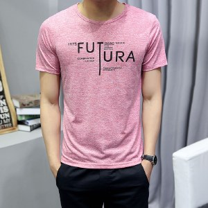 海谜璃新款修身韩版男士短袖男式T恤休闲圆领t恤HBF2178
