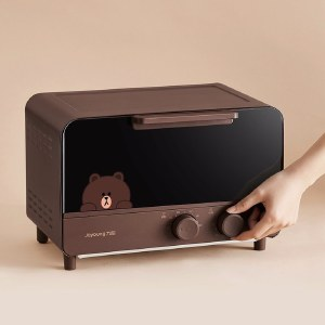 九阳电烤箱Line联名款家用多功能烘焙机小巧电烤炉棕色布朗熊KX12-J87