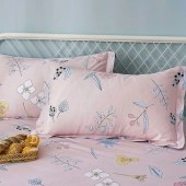 悠梦嘉居精梳棉四件套床单式印花套件双人四件套200*230cm