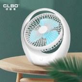 CLBO卓联博小风扇USB便携式迷你小型台式家用大风力可充电随身电风扇圆形台式充电风扇
