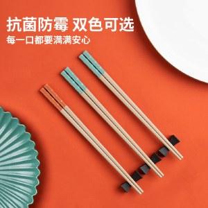 铸派家用合金筷彩色防滑防霉筷子一人一色吃饭筷子耐高温高档餐具