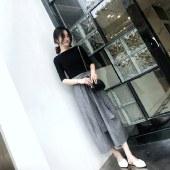 海谜璃夏装新款两件套装半身裙子洋气气质御姐女神森女套装HBF2735