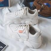 海谜璃春季小熊白鞋运动鞋韩版百搭新款女鞋老爹鞋HB9634