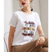 海谜璃短袖t恤女宽松女装t短袖女大码上衣HBF2726