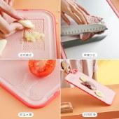 铸派砧板菜板家用抗菌防霉厨房小麦塑料菜板分类案板不锈钢切菜板【新品上市】