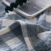 悠梦嘉居五层水洗毛巾被A类产品婴幼儿均可使用,高档色条简约四季可用180*200CM