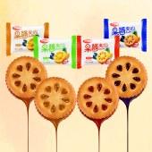 优迈嘉果酱夹心饼干(4种口味混合装)300g/箱