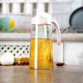 铸派玻璃油壶装油倒油防漏厨房家用自动开合大容量酱油醋油罐油瓶