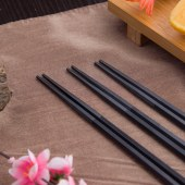 铸派合金筷家用高档一人一筷轻奢防滑防霉耐高温尖头日式家庭筷子 5双装