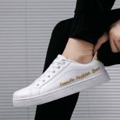 海谜璃透气小白潮鞋男士休闲内增高百搭板鞋HBX7031