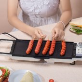 山水三明治机烹饪机家用早餐机电饼铛华夫饼机烙饼锅绿色SMZ372