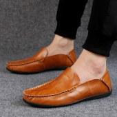 海谜璃新款潮流皮鞋韩版牛皮休闲鞋英伦男士百搭豆豆鞋HBX7231