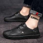 海谜璃新款英伦休闲鞋男士透气超纤休闲鞋HBX7232