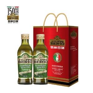 翡丽百瑞特级初榨橄榄油500ML*2礼盒意大利原装进口优选系列
