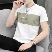 海谜璃春夏韩版休闲男士T恤青少年棉质时尚短袖修身男式体恤打底衫HBF2757